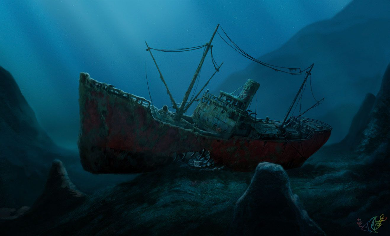 Cached Pictures of sunken ships